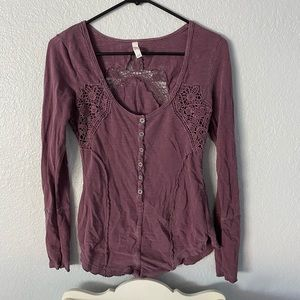 Free People crocheted top